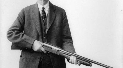 Les designs uniques de Browning. Commençons par le pistolet A-5 ...