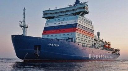 破冰船pr.22220。技术优势和航行前景