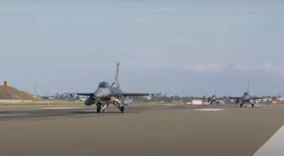 É relatado sobre a transferência de caças F-16 da Força Aérea Turca no Azerbaijão para Gabala