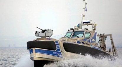 Un bateau sans pilote israélien Seagull a reçu un drone de reconnaissance