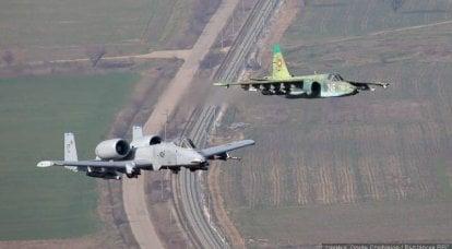 Batalla de soldados de asalto. Su-25 contra A-10 Thunderbolt II