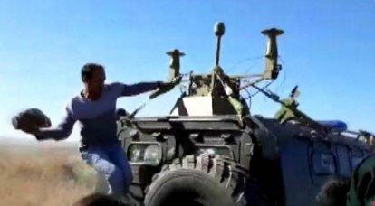 Kurds attacked Russian-Turkish patrol again: sledgehammers