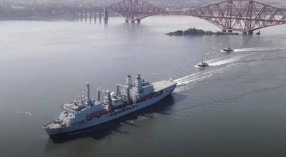 """""""Und es gibt Brände in der russischen Flotte"""": Britische Medien brennen auf dem einzigen Versorgungsschiff des Landes AUG"""