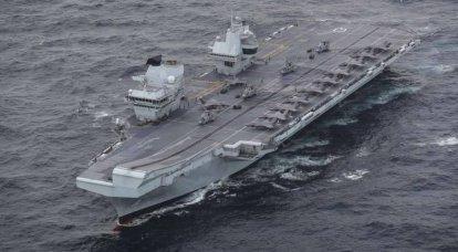 地中海の空母HMSクイーンエリザベス近くのロシアの戦闘機がイギリスに警告しました