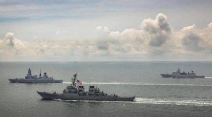"""러시아의 코르벳 """"Dmitry Rogachev""""와 """"Pavel Derzhavin""""은 지속적인 감시하에 나토 군함 그룹을 점령했습니다."""