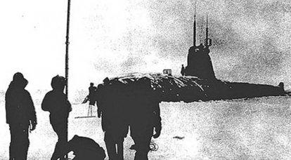 El submarino K-181 apareció por primera vez en el Polo Norte hace 57 años.