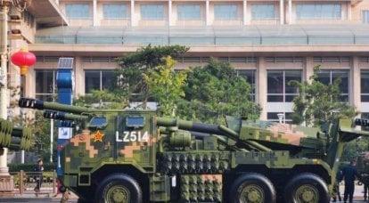 新しい中国自走式155 mm榴弾砲PLC-181