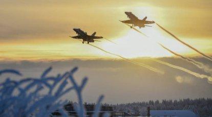 """""""우리 영토 보전"""": 핀란드 공군은 북극에서 비행을 보여주었습니다"""