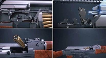 射击时AK-47操作
