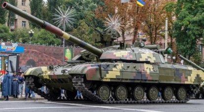"""우크라이나 국방부는 현대화 된 T-12BM64 """"게""""전차 2 대를 주문했습니다."""