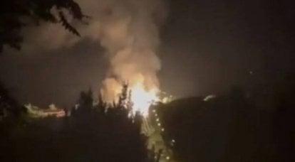 लुगांस्की के केंद्र में एक गैस पाइपलाइन पर गरज के साथ एक शक्तिशाली विस्फोट