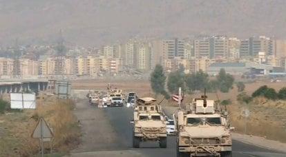 ロシア軍はシリアのアメリカ軍の列の前進を止めた