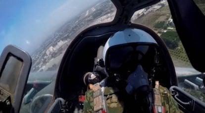 Um vídeo da filmagem da aeronave de ataque Su-25SM3 apareceu na Web