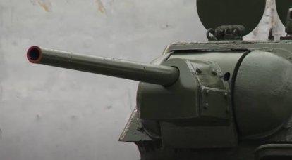 Pruebas del tanque soviético T-34 en 1942 en los EE. UU.