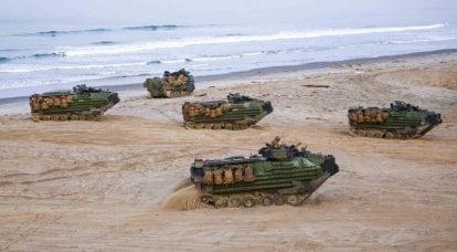 """미 해병대는 이른바 """"개구리 점프""""를 준비하고 있습니다. 미국은 해안 연대를 만들기 시작했습니다."""