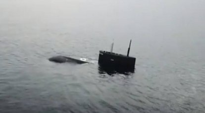 "Diesel-electric submarine ""Kolpino"" was shot by ""Caliber"" from a submerged position"