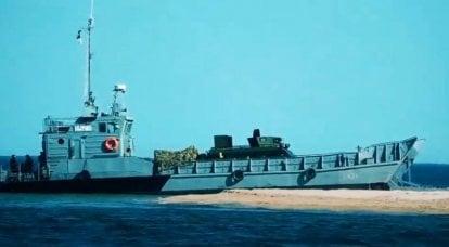 ウクライナ海軍が海岸で上陸演習を実施