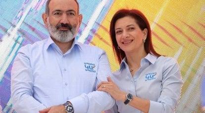 """亚美尼亚总结临时选举结果,帕希尼扬称这种情况为""""钢铁革命"""""""