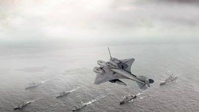 潜水艦の戦闘機と空母