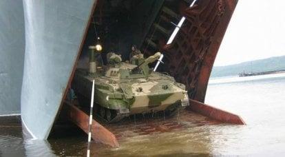 """우크라이나 언론 : 러시아 해병대가받은 BMP-3F는 우크라이나 군대의 """"해군""""BTR-4를 능가합니다."""
