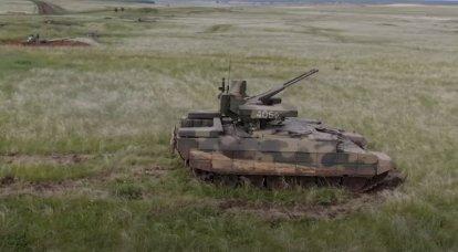 """Les premiers exercices avec l'utilisation de BMPT """"Terminator"""" ont commencé dans la région de Tcheliabinsk"""