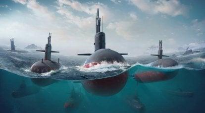 Les plus grandes profondeurs de sous-marins à immersion de la marine russe, de la marine américaine et du Japon