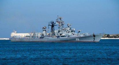 黒海艦隊の巡視船「シャープ」がドック修理を実施
