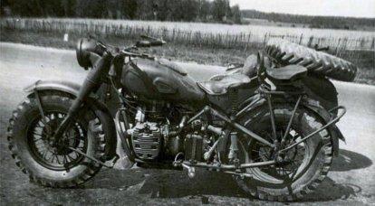 TMZ-53。 戦場に到達しなかった四輪駆動のオートバイ
