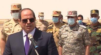 """मिस्र की सेना की शिक्षाएं एर्दोगन के लिए """"चेतावनी का शॉट"""" हैं"""