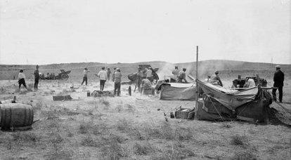 1917 वर्ष में कोकेशियान सामने। दक्षिणपश्चिमी फारस में बाराटोव की आक्रामक लाशें