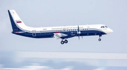 The new Russian Il-114-300 turboprop makes its second flight