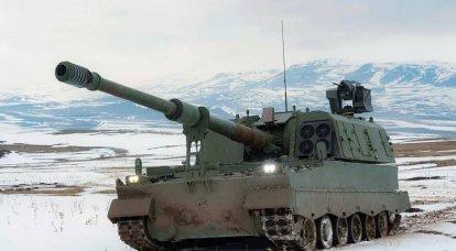 自走砲の設置T-155Fırtına(トルコ)
