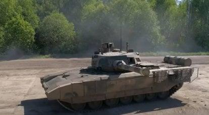 """Pruebas del tanque T-14 """"Armata"""" y otros vehículos blindados en el rango del 38 ° NII BTT del Ministerio de Defensa de la Federación de Rusia"""