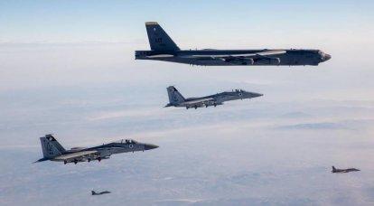 Na mídia dos EUA: B-52Hs americanos foram acompanhados por caças da Força Aérea Israelense com mísseis obsoletos