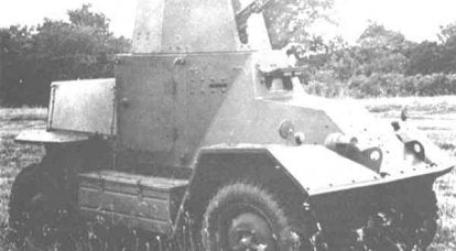 Light armored car Morris Salamander to replace a motorcycle with a machine gun