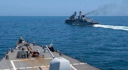 Destruidor dos EUA URO USS Laboon DDG58 deixa o Mar Negro