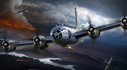 重型双引擎日本战斗机与美国轰炸机