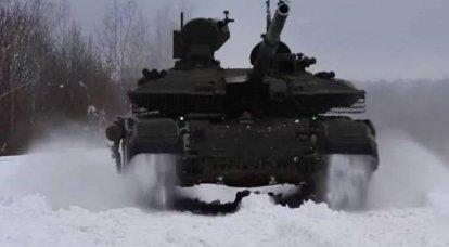 Tanques rusos T-90M combinados en una sola red durante los ejercicios