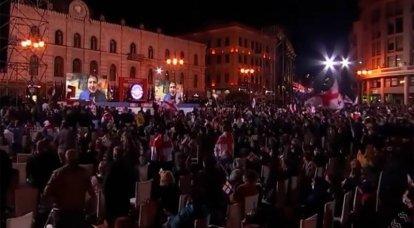 Saakashvili anunció la disposición de sus partidarios para tomar el poder en Georgia y llamó a la condición