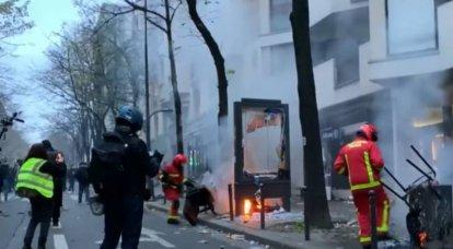 """""""Des hooligans écrasent la République française"""": le ministre français de l'Intérieur a évoqué des manifestations à grande échelle"""