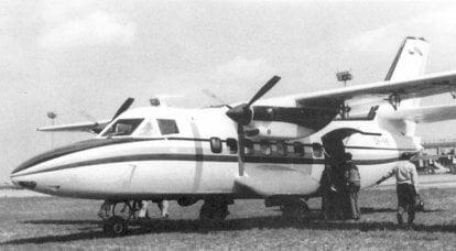 बहुउद्देशीय विमान L-410 दें। संचालन में पहली अर्धशतक