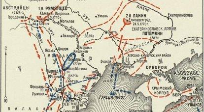 A derrota do exército turco em Machin e Brailov
