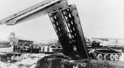 Puente de tanques de los ingenieros reales en la Segunda Guerra Mundial