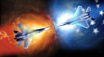 나토에 대한 러시아. 전술 항공의 세력 비율