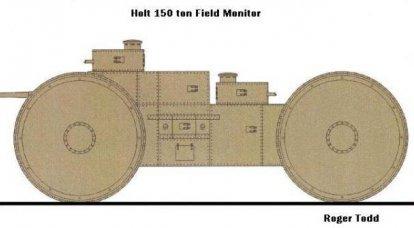 Holt 150 tonフィールドモニタースーパーヘビー装甲車両デザイン(アメリカ)