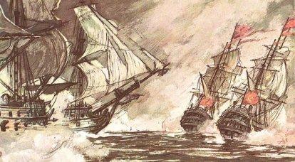 La sconfitta della flotta turca nella battaglia di Kerch