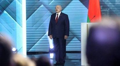 """接受卢卡申卡(Lukashenka)采访时:""""我可以被枪杀,但我不会在任何地方跑"""""""