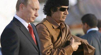 卡扎菲呼吁普京提供帮助