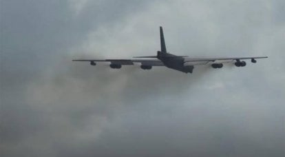 """The US Air Force B-52, which took part in the """"mission"""" over the Black Sea a few days ago, gave an emergency signal over Britain"""