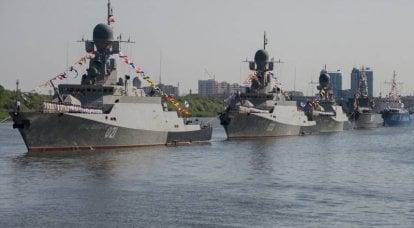 カスピ海でのロシアの海軍力